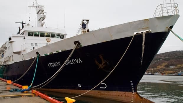 The departure of the Lyubov Orlova ship, seen here on Jan. 2, has been delayed again due to poor weather conditions.