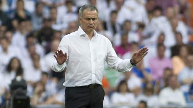 Real Madrid coach Jose Mourinho had been banned for poking Barcelona counterpart Tito Vilanova in the eye during an on-field brawl at the end of a Super Cup match last year.