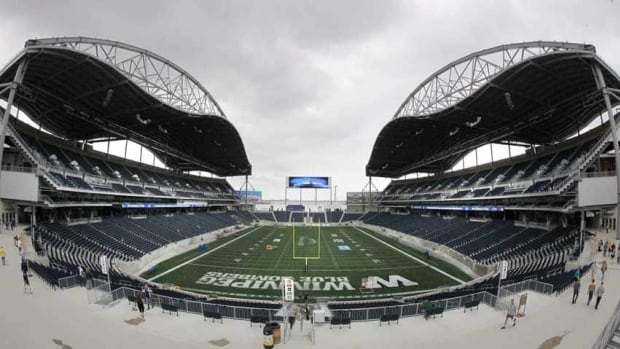The total cost of the Investors Group Field on the University of Manitoba campus is now $203 million.