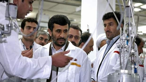 Iranian President Mahmoud Ahmadinejad visits the Natanz Uranium Enrichment Facility 320 kilometres south of the capital Tehran. Negotiators from six world powers met with diplomats from Iran to discuss the country's nuclear program.