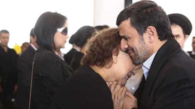 Senior Iranian clerics have criticized President Mahmoud Ahmadinejad for consoling Hugo Chavez's mother with a hug — a physical contact considered a sin under the country's strict Islamic codes.