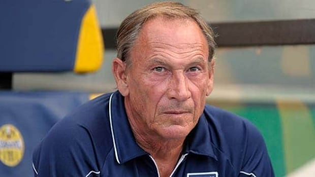 Pescara Calcio head coach, Zdenek Zeman, looks on during a Serie B match between Hellas Verona FC and Pescara Calcio.