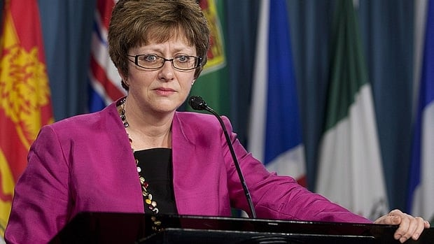 Human Resources Minister Diane Finley offered details on changes to the Employment Insurance system Thursday. The government's omnibus budget bill, which grants cabinet the power to make the EI changes, also scraps EI tribunals and replaces them with a smaller board.