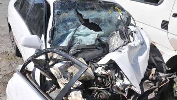 A Canadian couple, their toddler and another relative were killed in a crash in Jamaica Wednesday, police say. The Toyota Corolla in which the family was driving in was left in a tangled mess.
