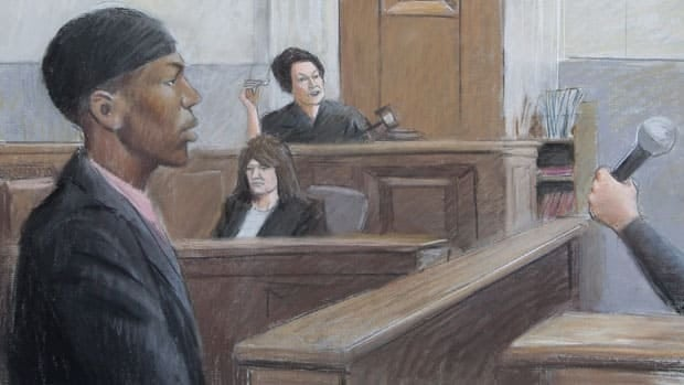 A courtroom drawing shows Umar Farouk Abdulmutallab in a Detroit courtroom in October 2011.