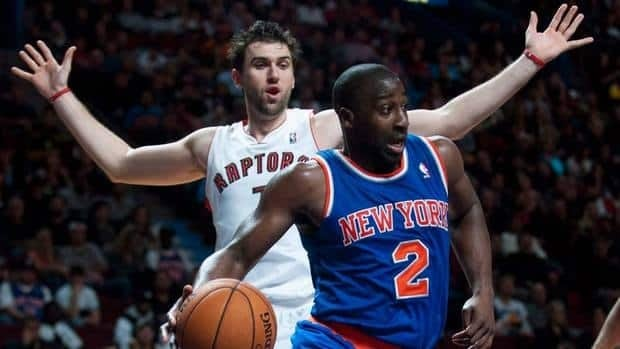 Andrea Bargnani is rumoured to be on his way to New York is the Raptors and Knicks can complete a deal for the Italian centre.