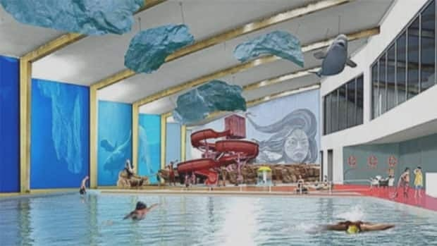 An architect's design for the new aquatic centre in Iqaluit. City council voted Tuesday night to borrow up to $40 million to build the facility.