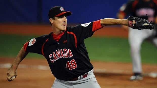Scott Richmond of Canada during a game against the United States during the XVI Pan American Games on October 25, 2011 in Lagos de Moreno, Mexico.