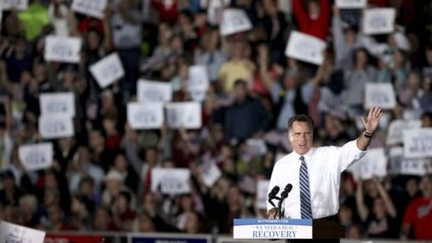 "Republican presidential candidate Mitt Romney says the Republicans are ""taking back America."""
