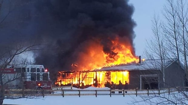 The Jan. 1 fire destroyed the house close to the hamlet of Grandora.