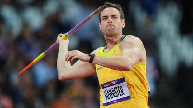 Jarrod Bannister is seen competing at the London Olympic Games in the men's javelin throw on Aug. 8, 2012.