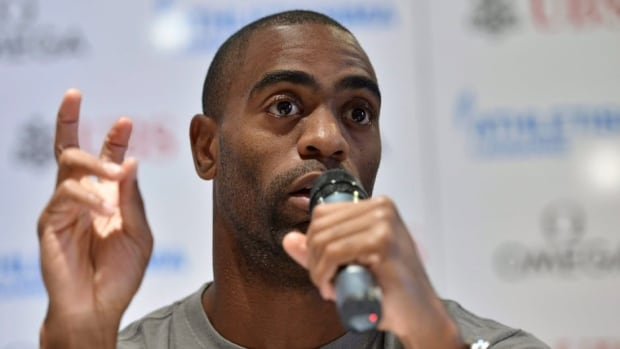 Tyson Gay, shown in this file photo, says he will pull out of next month's world championships in Moscow.