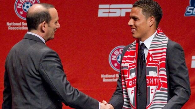 MLS commissioner Don Garber, seen welcoming Luis Silva to Toronto FC at the 2012 MLS Super Draft, said he wants to see the franchise finally break through.