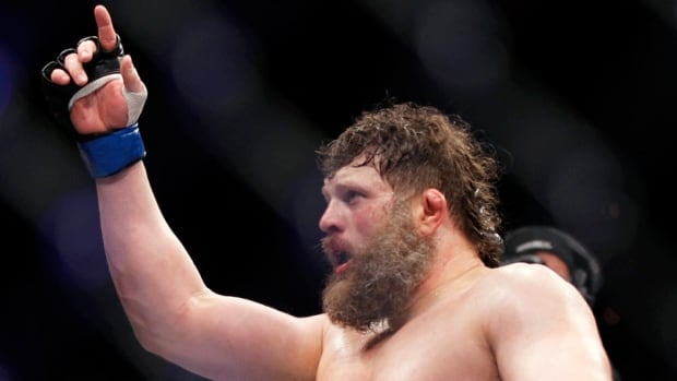 Roy Nelson, seen here celebrating his victory over Mirko Cro Cop at UFC 137 in Oct. 2011, defeated Matt Mitrione in the main event of Saturday's The Ultimate Fighter 16 Finale in Las Vegas.