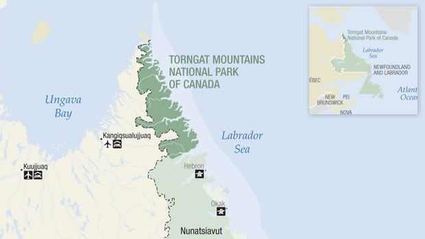 A hiker was attacked by a polar bear in Torngat Mountains National Park on Wednesday morning.