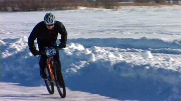 A group of enthusiastic bikers showed off their skills at the IceCycle race on Wascana Lake.