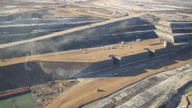 The existing Shell Jackpine oilsands mine north of Fort McMurray.