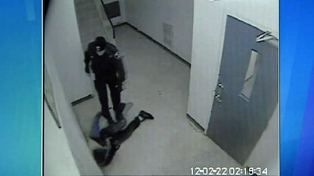 Windsor police officer Kent Rice was caught on video punching and kicking Gladson Chinyangwa as he was on the ground in a stairwell.