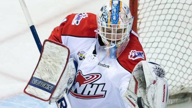 Laurent Brossoit, signed by Calgary, will first try to make it back to the Memorial Cup with the Edmonton Oil Kings.