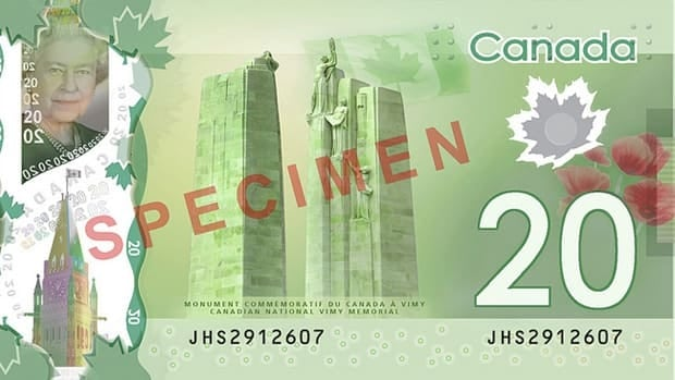 On the right side of the new $20 bill is what some experts say is a Norway maple leaf, not a Canadian maple leaf.