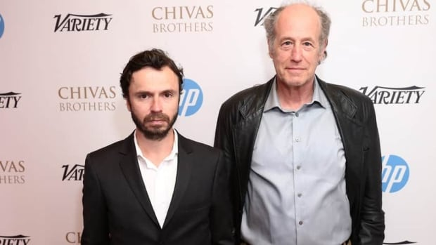 Quebec director Sebastien Pilote, left, is shown with his star Gabriel Arcand at a Cannes event on Sunday.