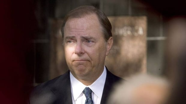 Former Enron CEO Jeffrey Skilling, shown here after being sentenced on fraud and conspiracy charges in October 2006, may only serve between 14 and 17 years of his original 24-year prison sentence. A judge will decide June 21.