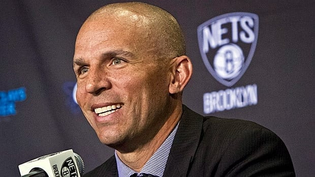 Brooklyn Nets new head coach Jason Kidd smiles as he is introduced during an new conference on Thursday.