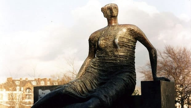 A cash-strapped east London community's planned sale of its public Henry Moore sculpture Draped, Seated Woman has drawn the ire of British arts figures.