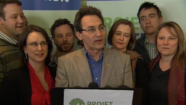 Party leader Richard Bergeron, who co-founded Projet Montréal in 2004, says municipal politicians shouldn't' have to spend millions to gain voters' support.