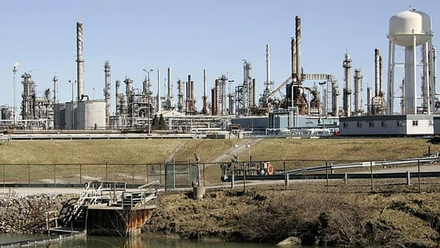 Oil from Western Canada makes it as far east as Sarnia, Ont., home to refineries like this one. Enbridge is proposing to change its pipeline to take it farther east, which could potentially meet the needs of Atlantic Canada.
