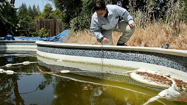 Residents were advised to remove any standing water from their properties to reduce breeding grounds for mosquitoes that spread West Nile virus.