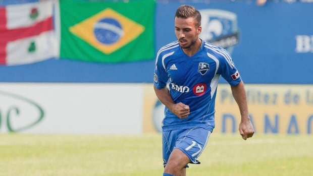 Dennis Iapichino with the Montreal Impact on August 25, 2012 in Montreal.