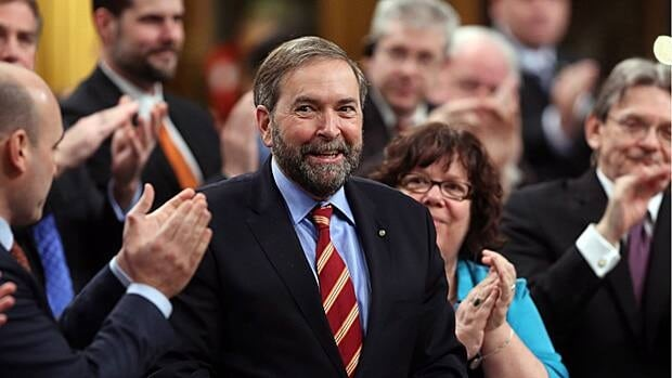 "Under Tom Mulcair's leadership, federal New Democrats are trying to get past their ""Chicken Little"" reputation on free trade files. Instead, they'll evaluate future trade deals on their merits and pass judgement accordingly, Mulcair says."