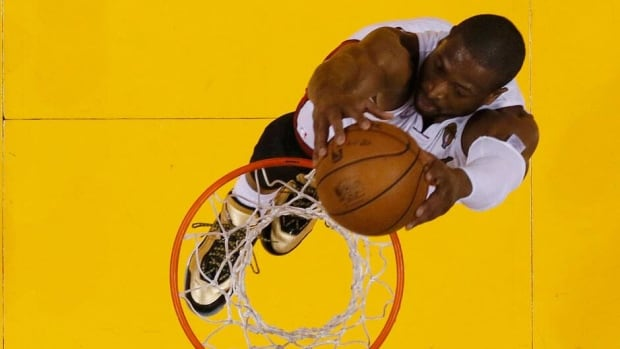 Miami Heat shooting guard Dwyane Wade played through severe knee pain in the NBA playoffs.