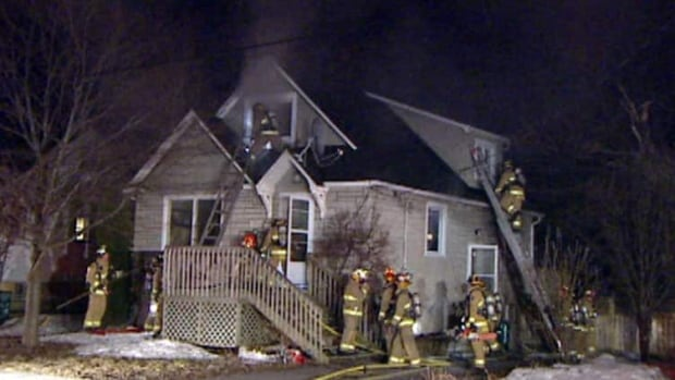 Fire crews were called to Prince Albert Street at about 10:35 p.m. Saturday.