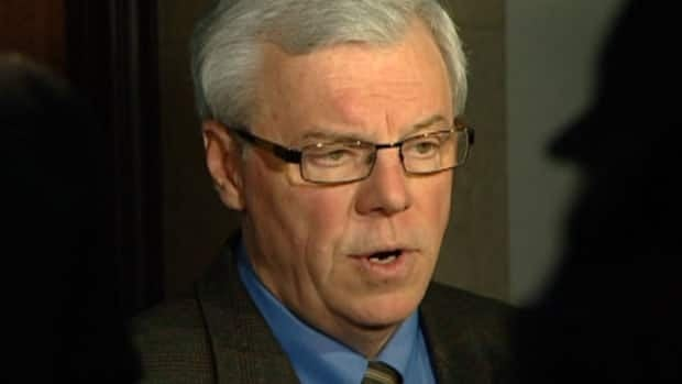 Manitoba Premier Greg Selinger speaks to reporters late Thursday afternoon, after the 2012 federal budget was tabled.