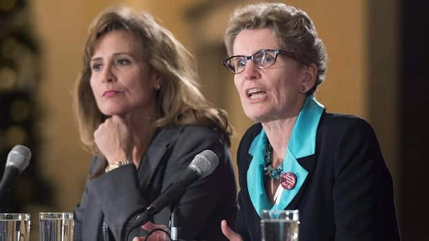 Sandra Pupatello (left) and Kathleen Wynne are among the candidates at Saturday's Ontario Liberal Leadership Convention in Toronto.