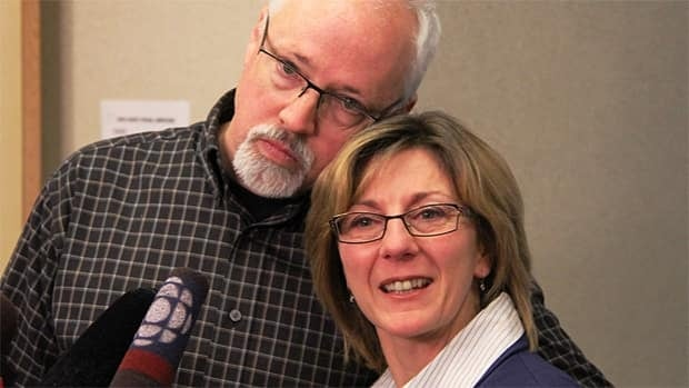 From left, parents Alan and Manon Campbell held a news conference to discuss the condition of daughter Hélène Campbell, who underwent double-lung transplant surgery at Toronto General Hospital.