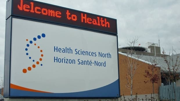 The B rating earned by Health Sciences North in Sudbury is based on five important risk-adjusted indicators measuring how well patients do after surgery or medical treatment, as reported by the Canadian Institute for Health Information.