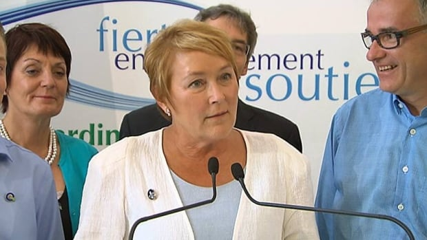 PQ Leader Pauline Marois's comments — while accompanied by her star health candidate Dr. Réjean Hébert, right, in the riding of CAQ candidate Dr. Gaétan Barrette — have riled Barrette, who says she was attacking his weight.