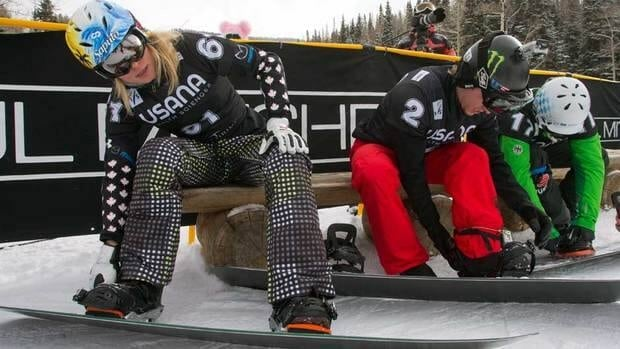 Canada's Dominique Maltais, left, shown here at an event in December, won silver on Saturday at Blue Mountain.