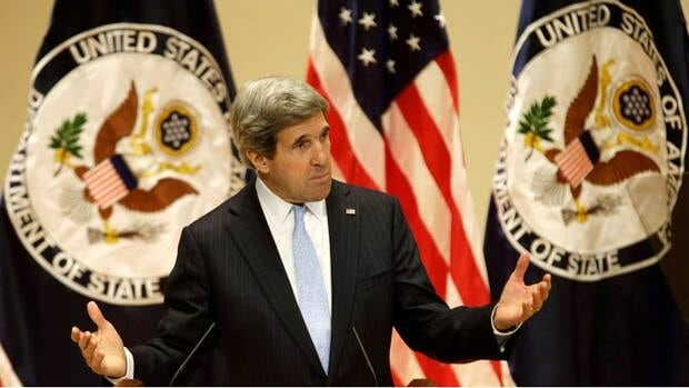 U.S. Secretary of State John Kerry talked about climate change in his first foreign policy speech at the University of Virginia on Wednesday.