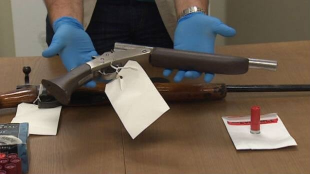 This Tupper lever action sawed-off shotgun was one of the firearms seized in a Paradise residence on Wednesday.