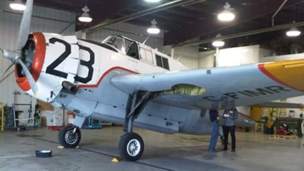 The final Grumman Avenger Aircraft in New Brunswick went permanently to the Shearwater Aviation Museum in Nova Scotia Thursday.