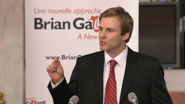 Brian Gallant announced his candidacy for the Liberal leadership on Wednesday. (CBC)