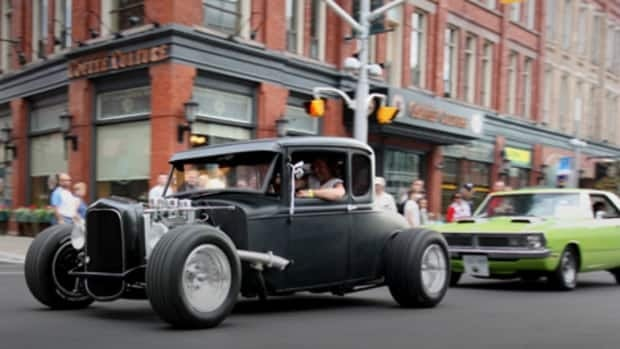 Classic cars and hot rods take over downtown Kitchener Friday afternoon, for the annual Cruising on King parade.