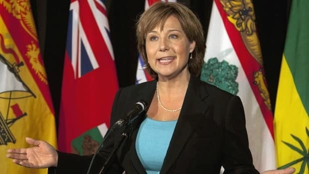 British Columbia Premier Christy Clark boycotts a national energy strategy at an annual summer meeting of premiers in Halifax on Friday, July 27, 2012.