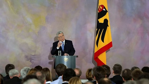 German President Joachim Gauck gives his much-anticipated speech on Europe on Friday at Bellevue Palace in Berlin.