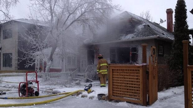 Fire crews battled a major house fire in Bridgeland on Saturday.