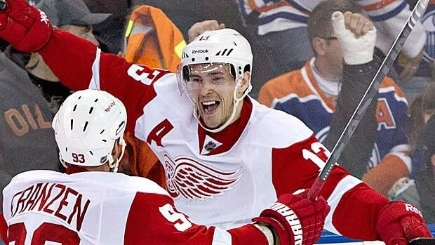 Pavel Datsyuk, seen during a game in Edmonton this season, has been a part of two Stanley Cup teams with Detroit.